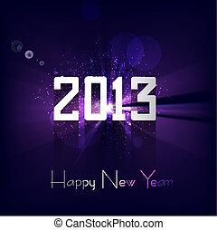 coloré, clair, vecteur, fond, année, nouveau, heureux, 2013, célébration