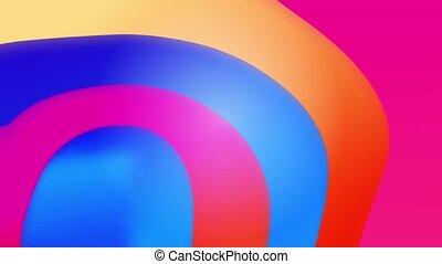 coloré, composition., animation, formes, résumé, fluide, gradient, liquide