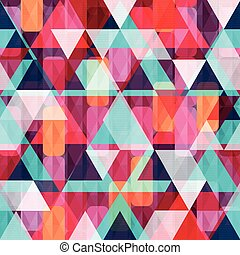 coloré, conception abstraite, fond, géométrique, ton