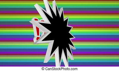 coloré, contre, comique, super, art, texte, fond, pop