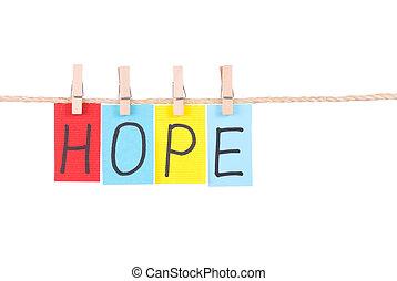 coloré, corde, pendre, espoir, mots