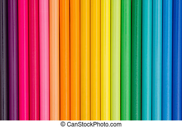 coloré, crayon crayon, education, fond