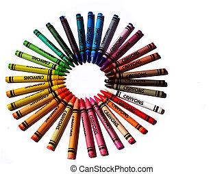 coloré, crayons