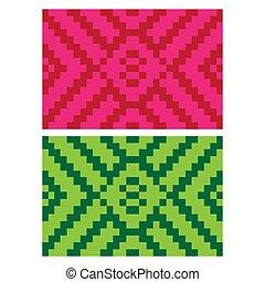 coloré, décoratif, ethnique, plat, beau, texture, 15, fond, tissé, (anyaman)
