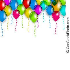 coloré, décoration, fête, vacances, ballons, ton