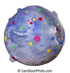 coloré, fantasme, espace, planète, isolé, blanc