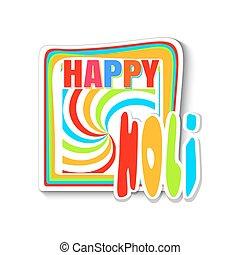 coloré, festival, -, couleurs, indien, holi, bannière, holi., heureux