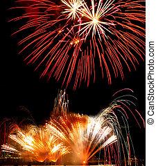 coloré, feux artifice, festival