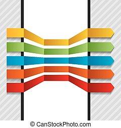 coloré, flèches, elements., ensemble, vecteur, conception