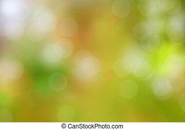 coloré, flamme, résumé, effet, lentille, bokeh, arrière-plan vert, ou