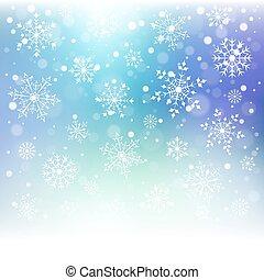 coloré, flocons neige, arrière-plan., noël