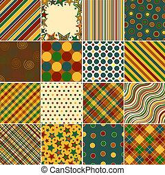coloré, fond, motifs