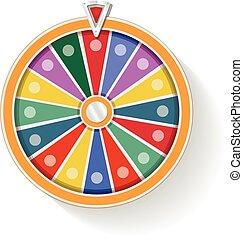 coloré, fortune, roue