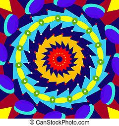 coloré, géométrique, mandala, sacré, cercle