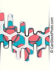 coloré, hexagone, résumé, vecteur, fond