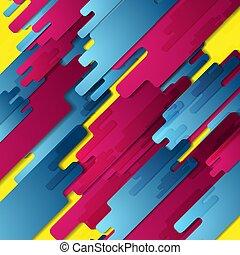 coloré, high-tech, résumé, fond, géométrie