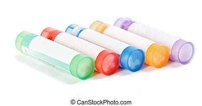 coloré, homéopathique, médicament, récipients