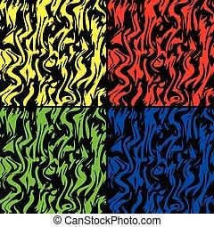 coloré, illustration, zebra