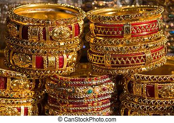 coloré, indien, bangles