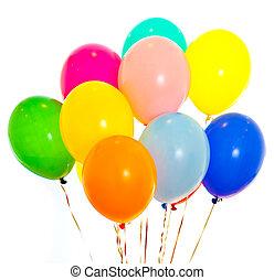 coloré, isolé, ballons