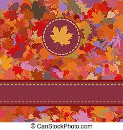 coloré, leaves., eps, automne, backround, 8, baissé