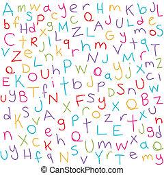 coloré, lettres