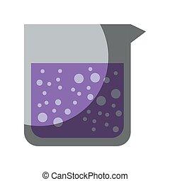 coloré, liquide, réaliste, image, pot, solution, verre, ombrager, laboratoire