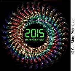coloré, lumières, fond, année, 2015, nouveau, heureux