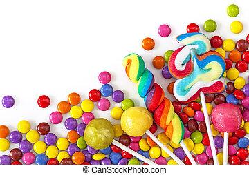 coloré, mélangé, bonbons