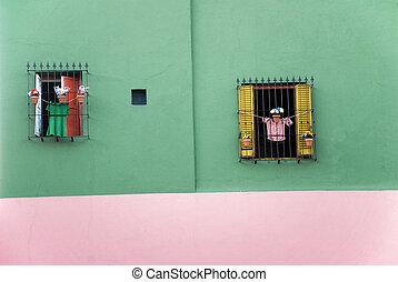 coloré, maison, dans, boca, -, buenos aires