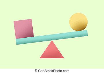 coloré, math, formes, géométrie, géométrique, usage, fond