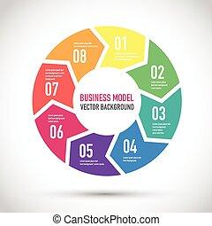coloré, modèle, business