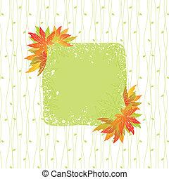 coloré, modèle, feuilles, seamless, automne, fond