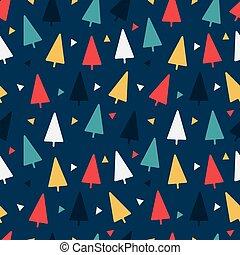 coloré, modèle, géométrique, vecteur, illustration, triangles, seamless