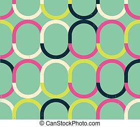 coloré, modèle, résumé, seamless, vecteur, retro, géométrique