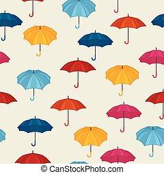 coloré, modèle, seamless, conception, fond, parapluies
