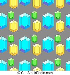 coloré, modèle, seamless, vecteur, diamants, géométrique