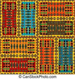 coloré, motifs, ethnique, fond, africaine