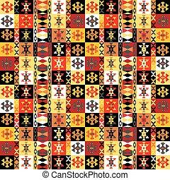 coloré, motifs, fond, ethnique