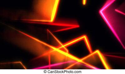 coloré, mouvement, résumé, lignes, fond, néon