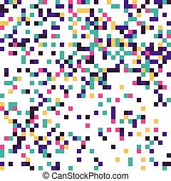 coloré, multi, pixelation.