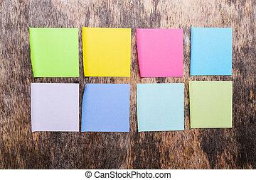 coloré, notes collantes