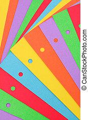coloré, papier