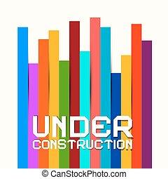 coloré, papiers, signe, vecteur, fond, construction
