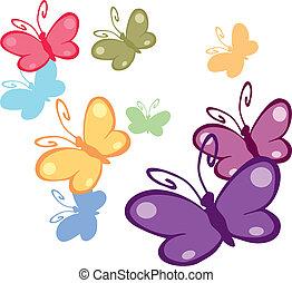 coloré, papillons, 2
