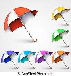 coloré, parapluies