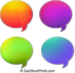 coloré, parole, bulles, ensemble