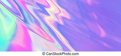 coloré, pastel, holographic, résumé, bannière, arc-en-ciel, ...