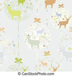coloré, pattern., eps, seamless, 8, noël
