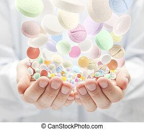 coloré, pilules
